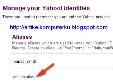 nama alias yahoo