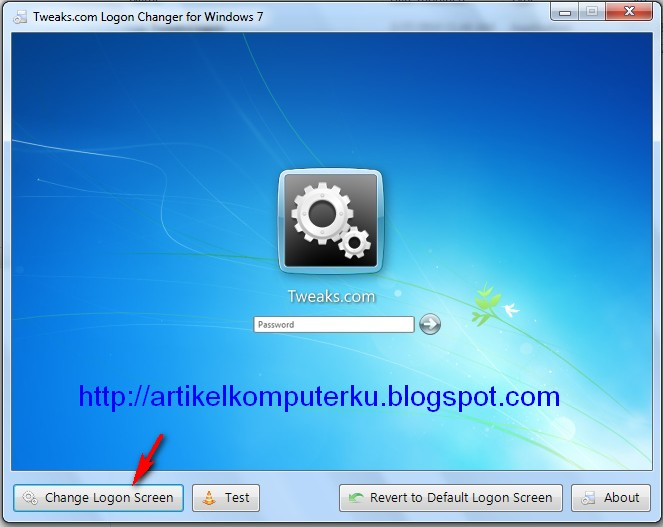 background logon changer
