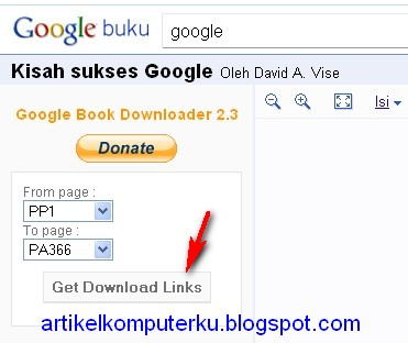 Cara download ebook di google book menggunakan google book downloader