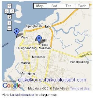 Cara memasang peta google map di blog blogspot
