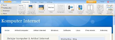 weebly blog Gratis yang Lebih Mudah dan Cepat