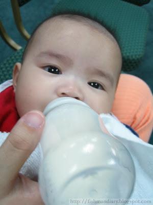 Taking milk