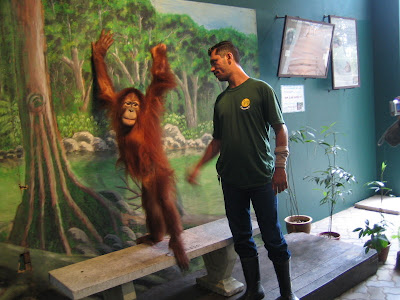 Orang Utan (left) and Keeper (right) ;-)