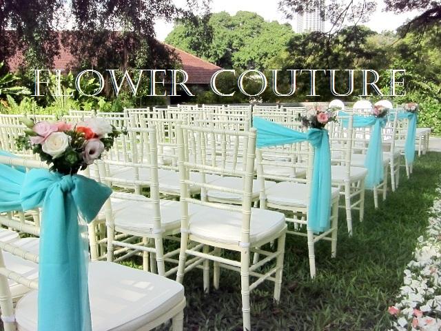 Garden Wedding Chair Decorations : Flower couture vintage garden wedding fort canning