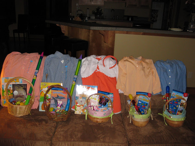 Five kids in five years easter week ideas easter baskets and new clothes on easter morning everyone got a little toy two new books one regular one sunday themed church bag book or coloring negle Images