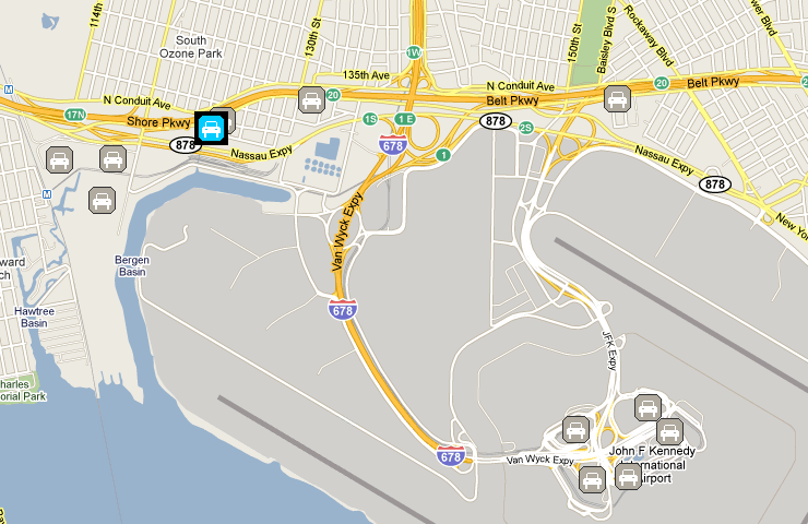 Airport long term parking jfk airport parking map for Lax long term parking lot