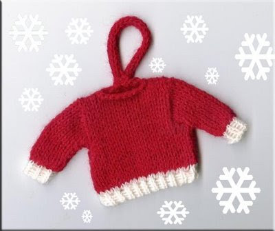 Tiny and Fun Nn http://marzipanknits.blogspot.com/2008/12/tiny-christmas-sweater-ornament.html