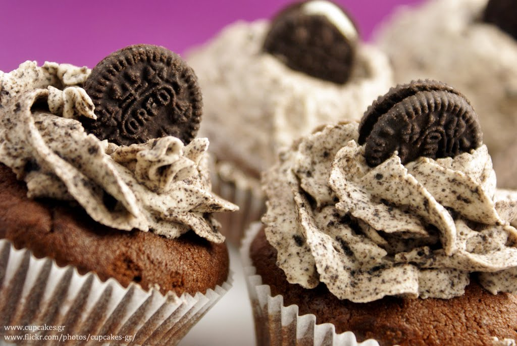 The making of cupcakes.gr: Oreo cookie cupcakes ― recipe