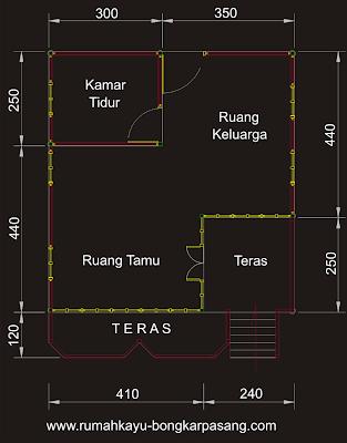 denah rumah type 52