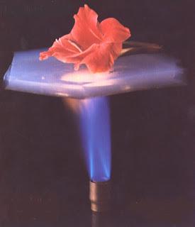 Aerogel flame