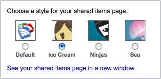 Google Reader styles