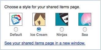 Google Reader styles