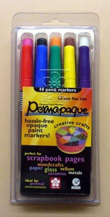 7 SAKURA Permapaque Marker Pens Basic Pack by Permapaque