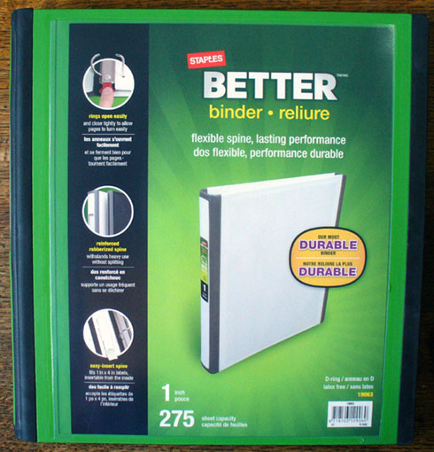 staples better binder spine label template