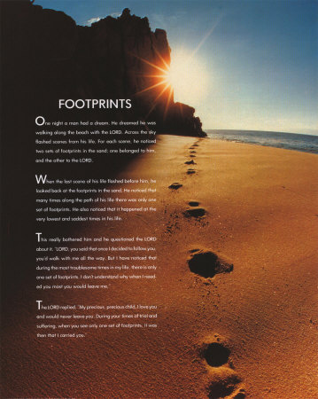 footprints in the sand poem footprints in