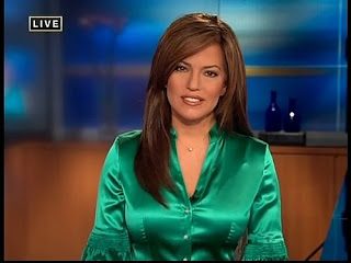 Ladies in Satin Blouses: cnn newswoman Robin Meade wearing ...