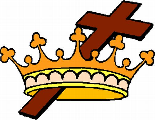 free cross and crown clipart - photo #3