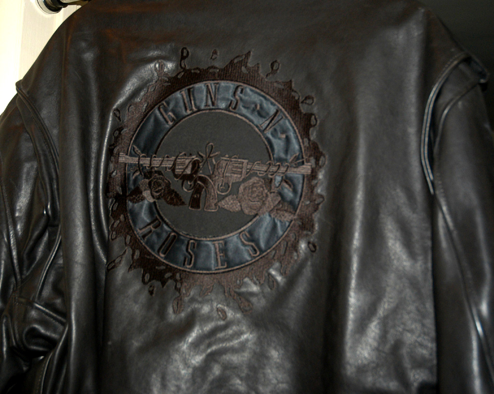 Leather jacket with roses - Leather Jacket With Roses