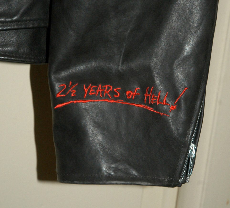 Leather jacket with roses - Guns N Roses Use Your Illusion Leather World Tour Jacket 1993 Tour Black On Black Leather Embroidered On Back Patch On Front With Caption Use Your