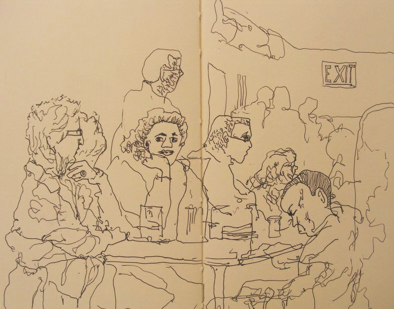 Contour Line Drawings By Famous Artists : The gallery for gt blind contour drawing famous artists