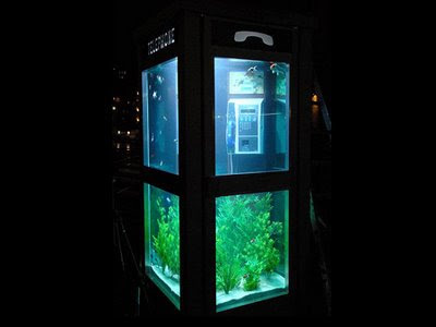 Telephone Booth Fish Aquarium