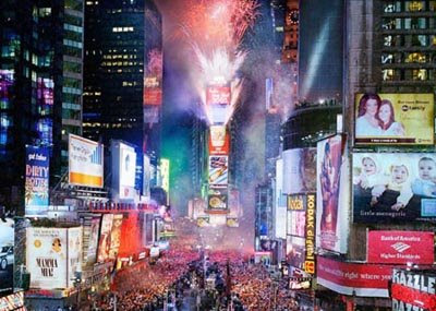 2009 New Year ball drop live online/2009 New Year ball drop video ...