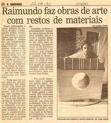 Raimundo Rodriguez - O Globo Baixada