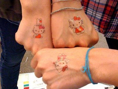 Hello Kitty tattoos are disturbing. Hello Kitty tattoos on men are even more