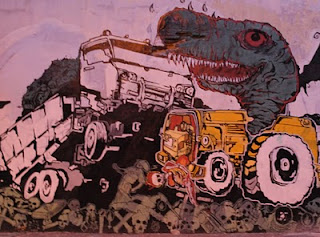 Street Graffiti Monsters and Truck