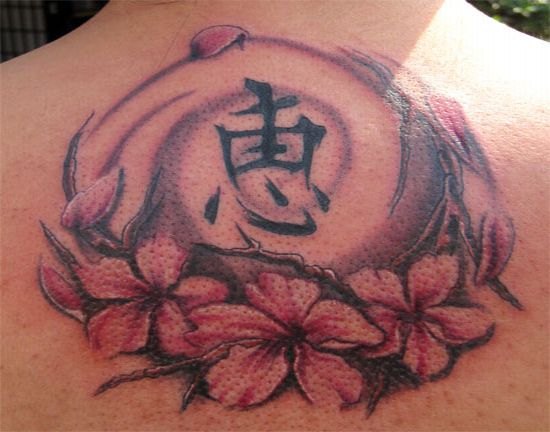 original tattoo: Chinese Flower Tattoo Gallery Pictures