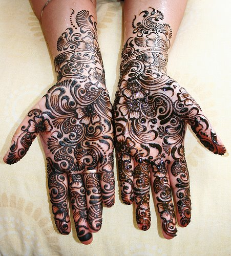 Henna is also believed to be a symbol of luck and implemented prior to