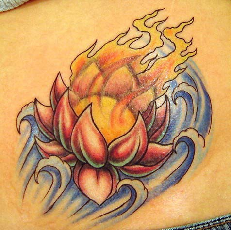 Lotus Flower Tattoo Outline. Fire – Flame Tattoos