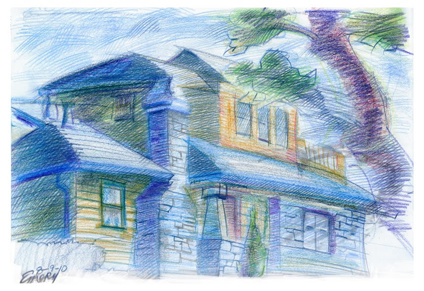Wonderful Colored Pencil Sketches of Houses 864 x 594 · 136 kB · jpeg