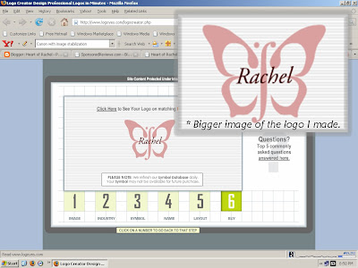 Heart of rachel create your own logo design online for Draw your own logo free online