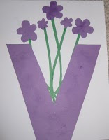 Craft Ideas Letter on Counting Coconuts Made A V Is For Violets Letter Craft