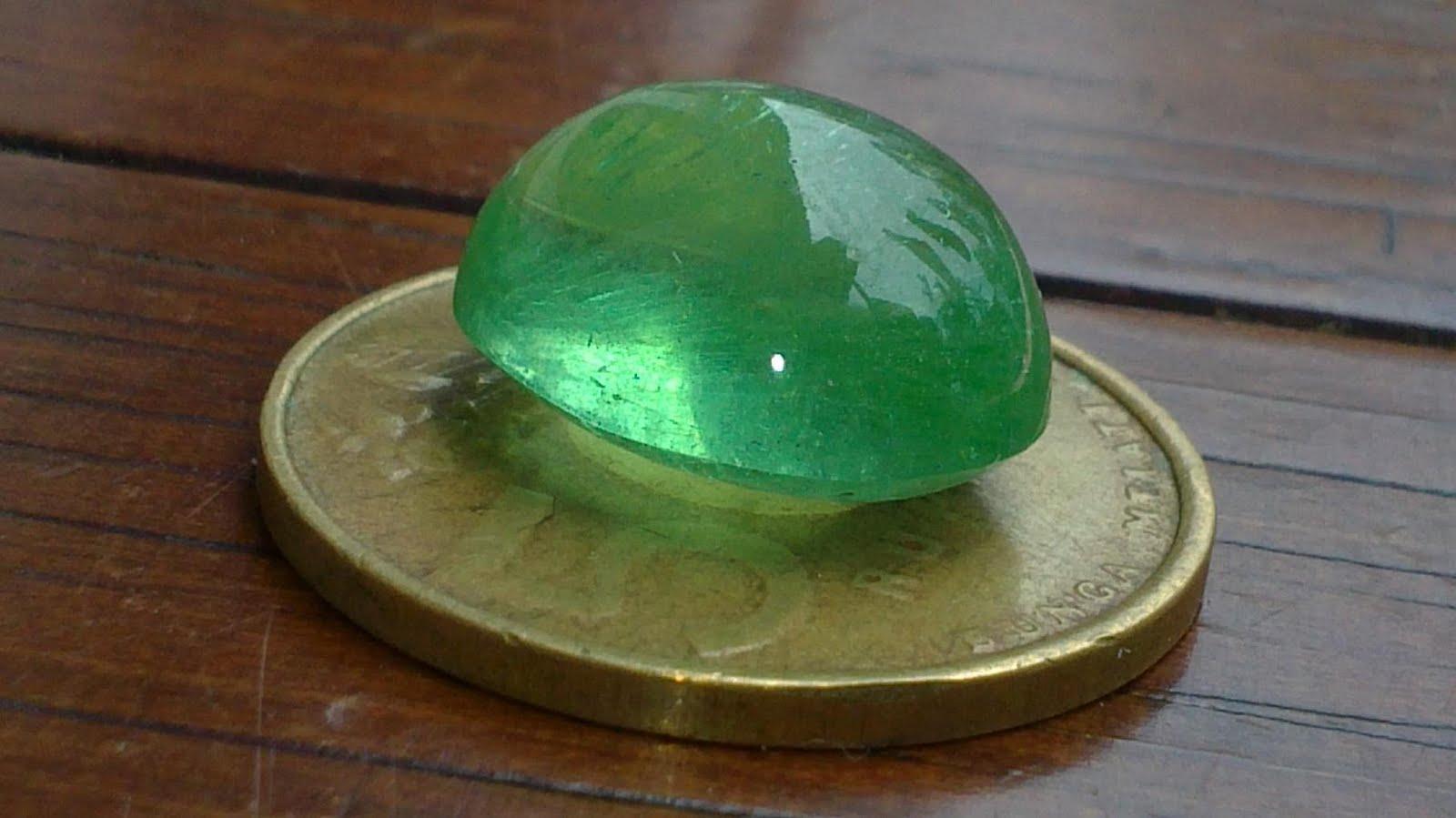 GREEN OBSIDIAN Borneo Emerald GEMSTONE EMERALD