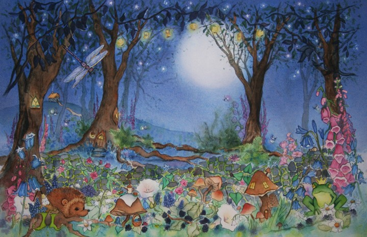 Fairies and Tails: Original Wind fairy painting