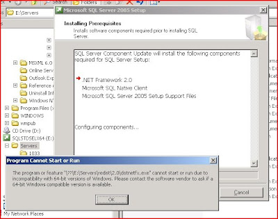 How To Code: SQL: Unable to install SQL Server 2005 x64 due to .NET ...