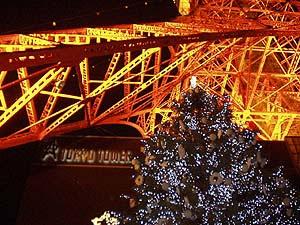 tokyo tower christmas tree