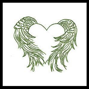 angel heart tattoo designs. Black Bedroom Furniture Sets. Home Design Ideas