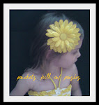 """Sunshine"" yellow flower w/yellow sparkle center. SOLD OUT!"