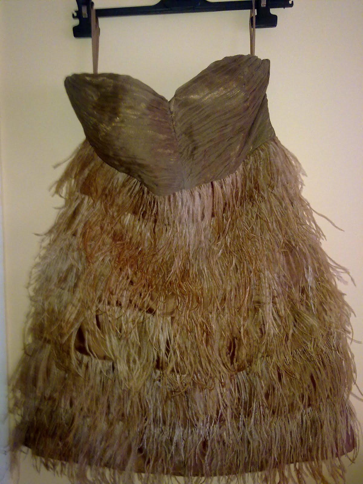 Vestido zara de plumas
