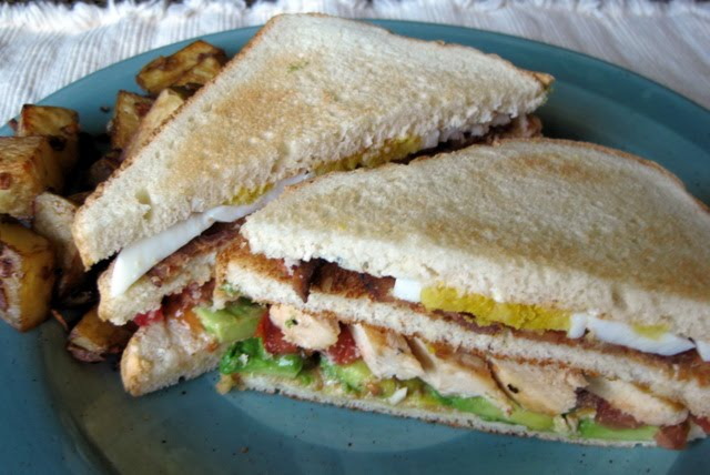 In the Long kitchen: Cobb Club Sandwiches