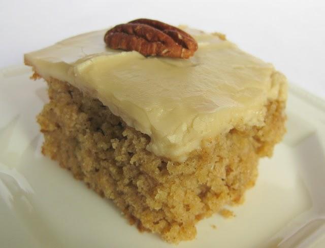 Recipe Applesauce Cake Caramel Icing