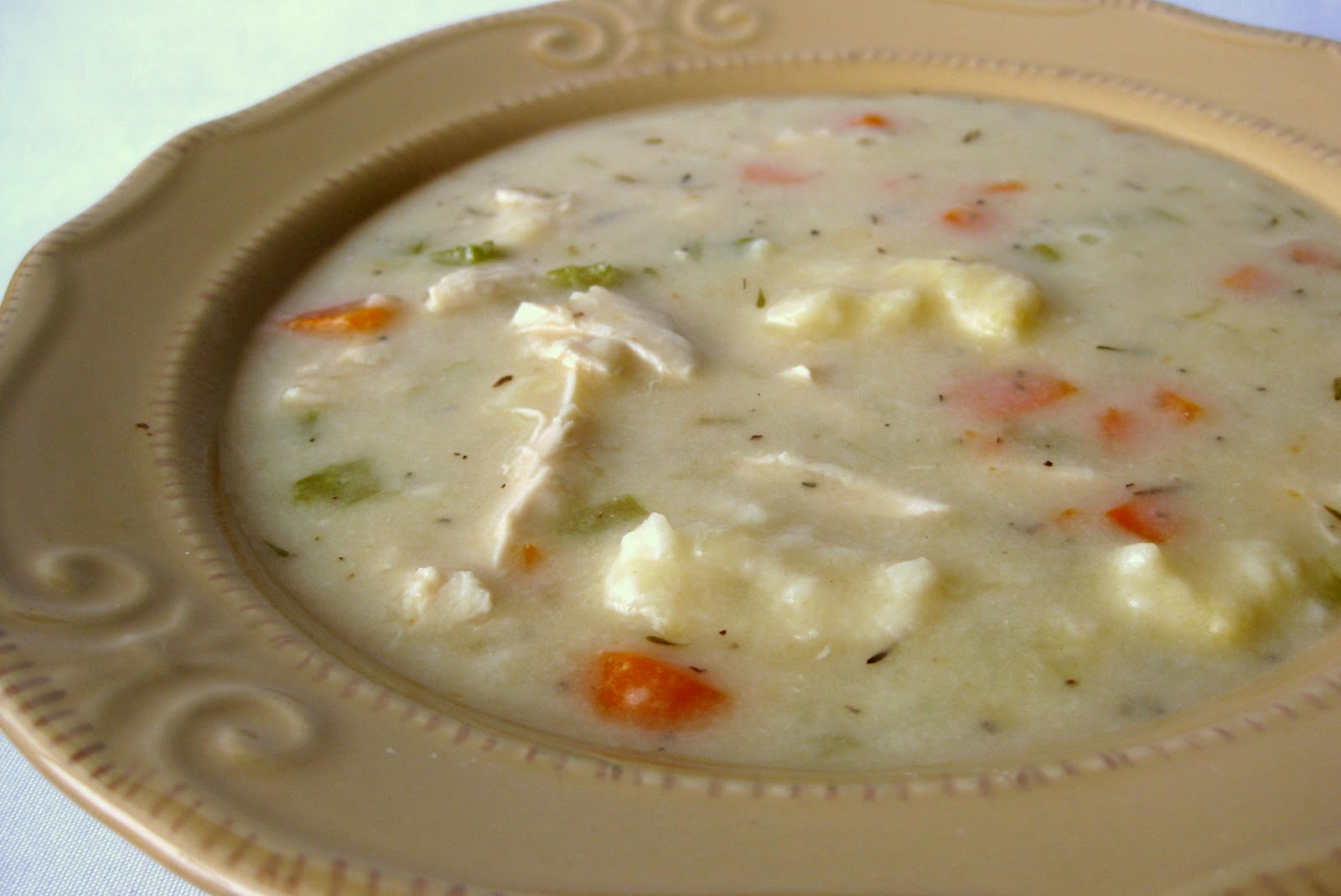 In the Long kitchen: Chicken and Vegetable Dumpling Soup