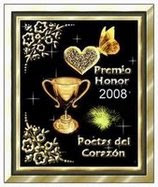 "Premio Honor 2008 ""Poetas Del Corazon"""