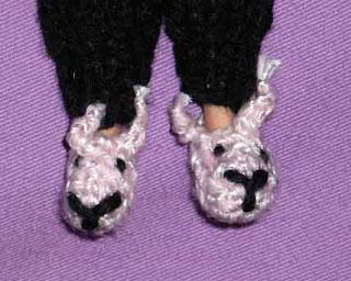 Purple Feline Craft: Free Crochet Bunny Slipper Pattern