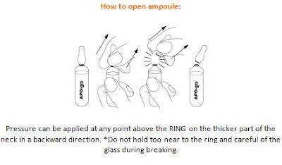 how to safely open a glass ampule