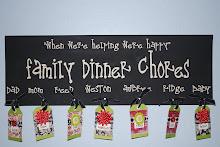 Family Dinner Chore Board