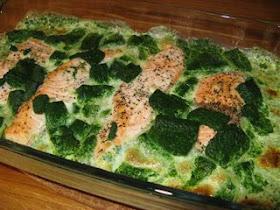 fryst bladspenat recept